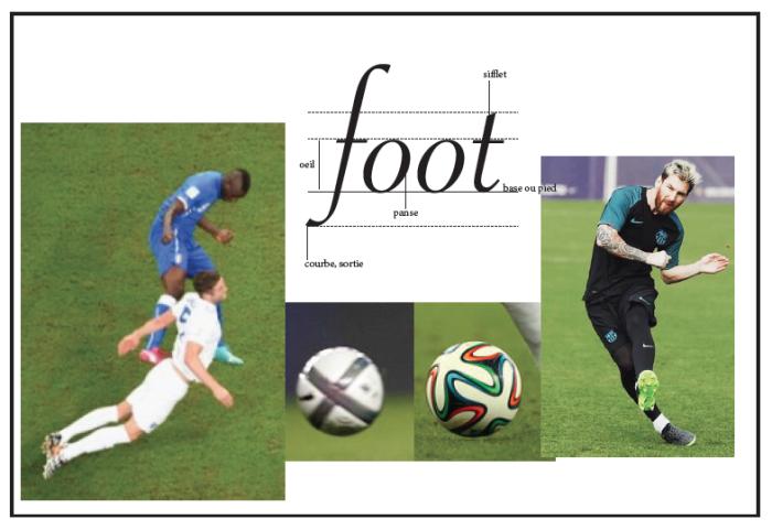 Le foot au pied de la lettre